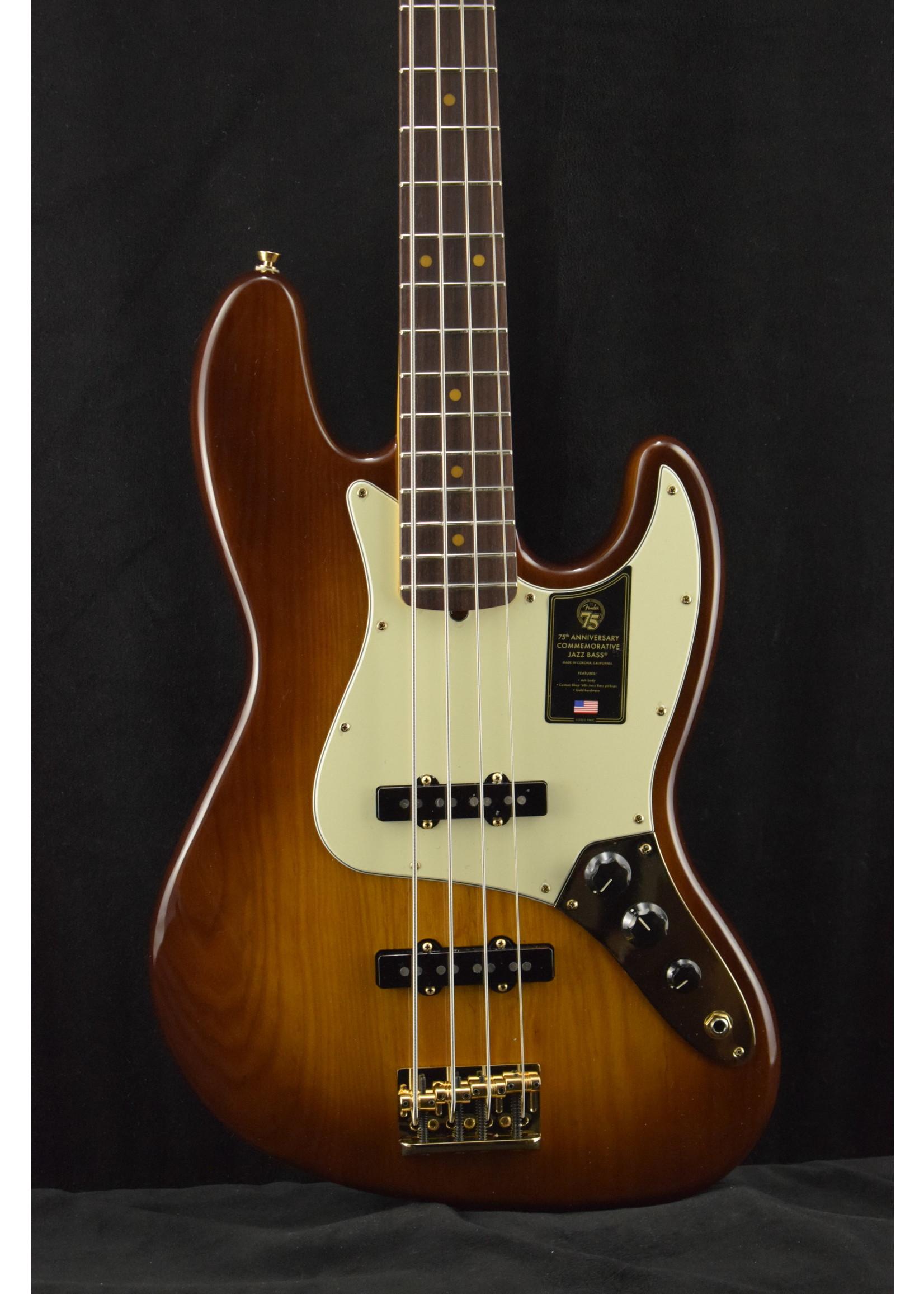 Fender Fender 75th Anniversary Commemorative Jazz Bass 2-Color Bourbon Burst