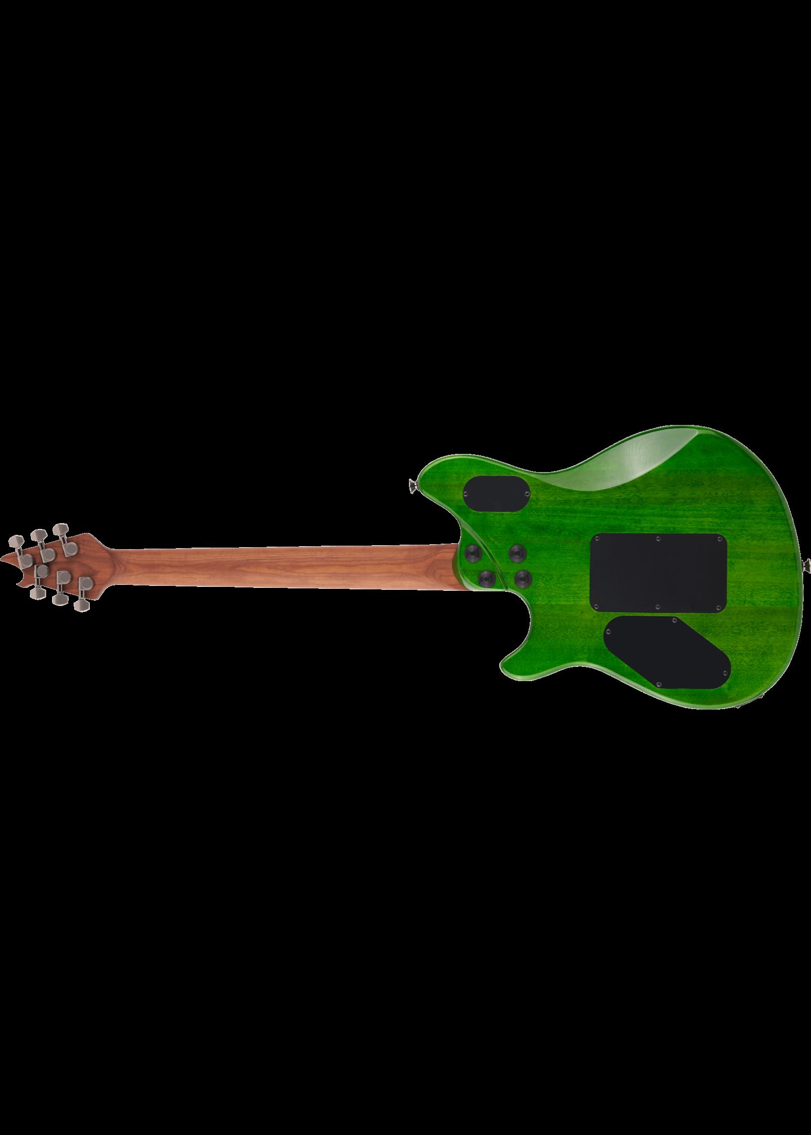EVH EVH Wolfgang WG Standard QM with Baked Maple Fretboard Transparent Green
