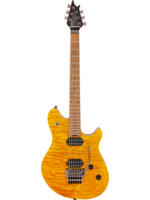 EVH EVH Wolfgang WG Standard QM with Baked Maple Fretboard Transparent Amber