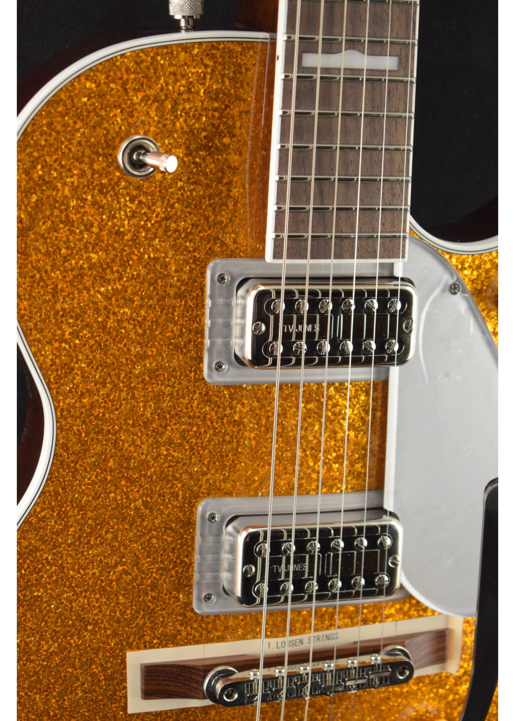 Gretsch Gretsch G6129T-89 Vintage Select '89 Sparkle Jet with Bigsby Gold Sparkle