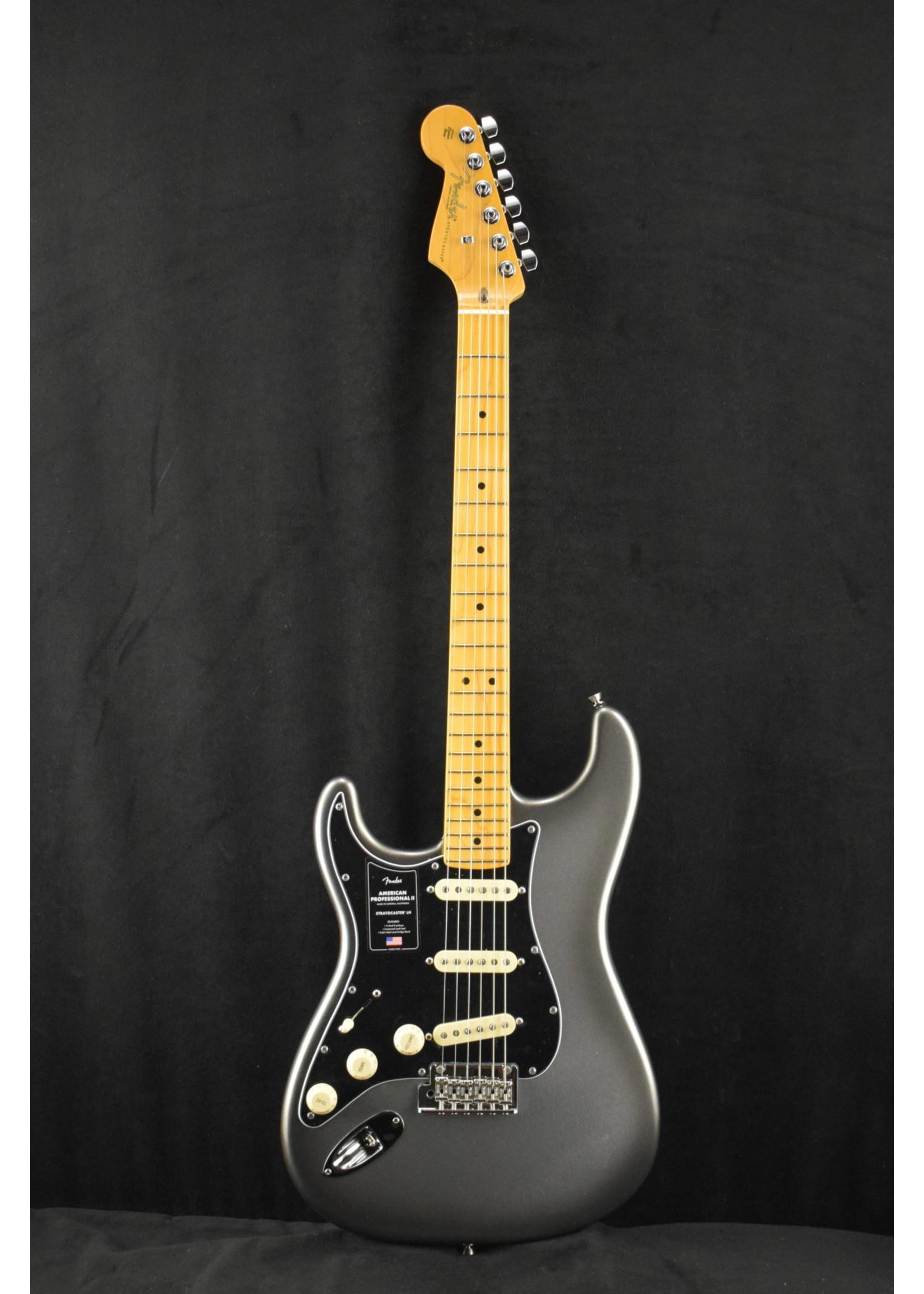 Fender Fender American Professional II Stratocaster Left-Hand Mercury Maple Fingerboard