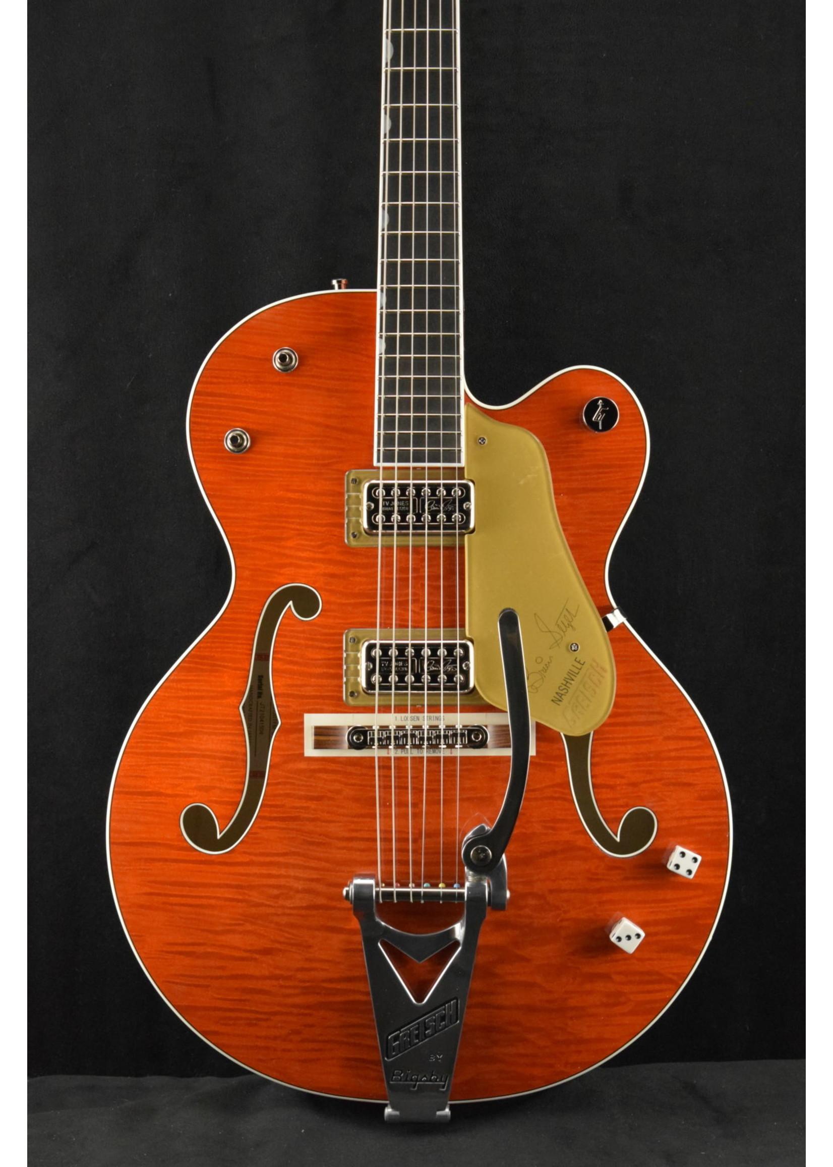Gretsch Gretsch G6120TFM-BSNV Brian Setzer Signature Nashville® Hollow Body with Bigsby® and Flame Maple Orange Stain