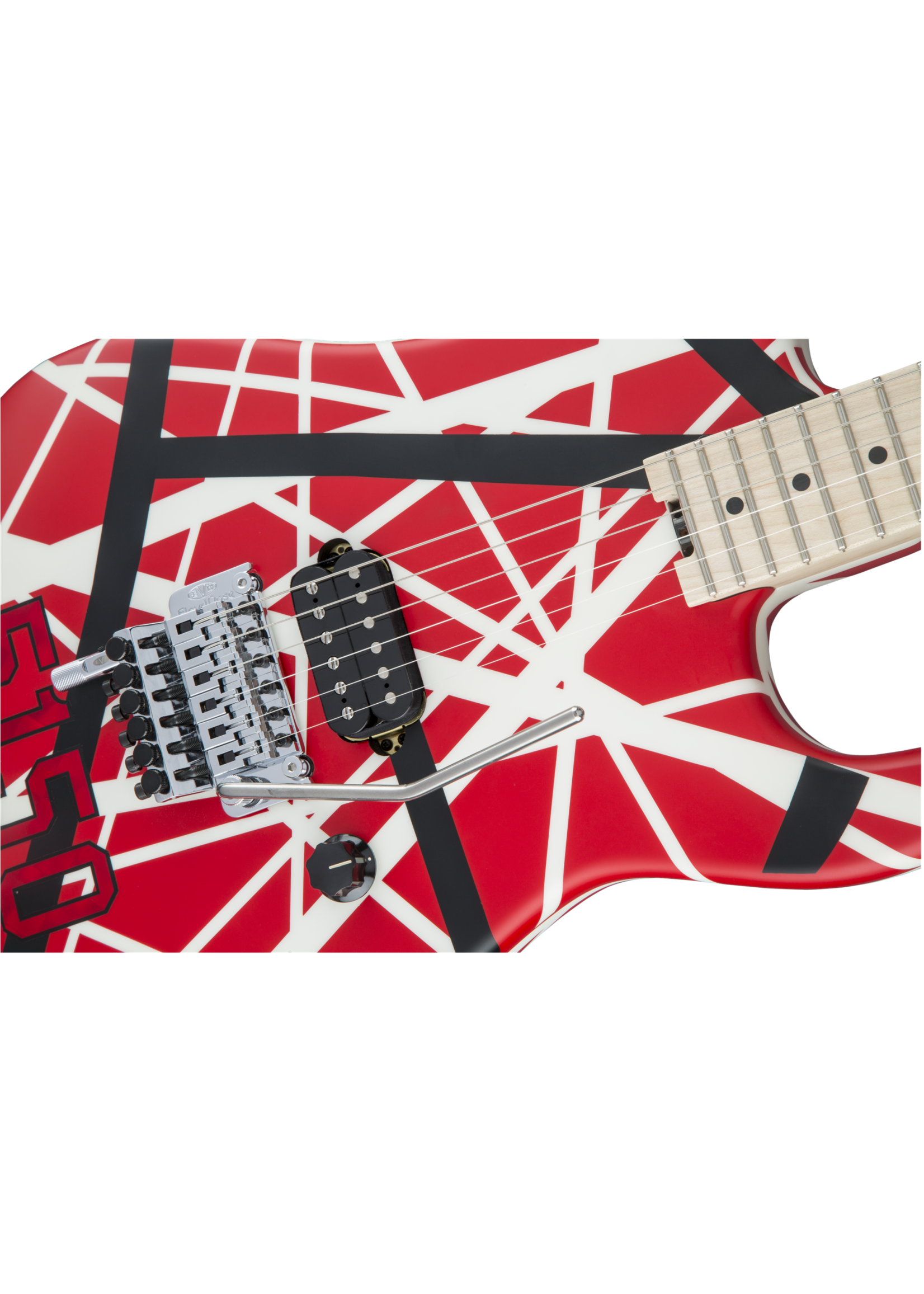 EVH EVH Striped Series 5150 Red with Black and White Stripes