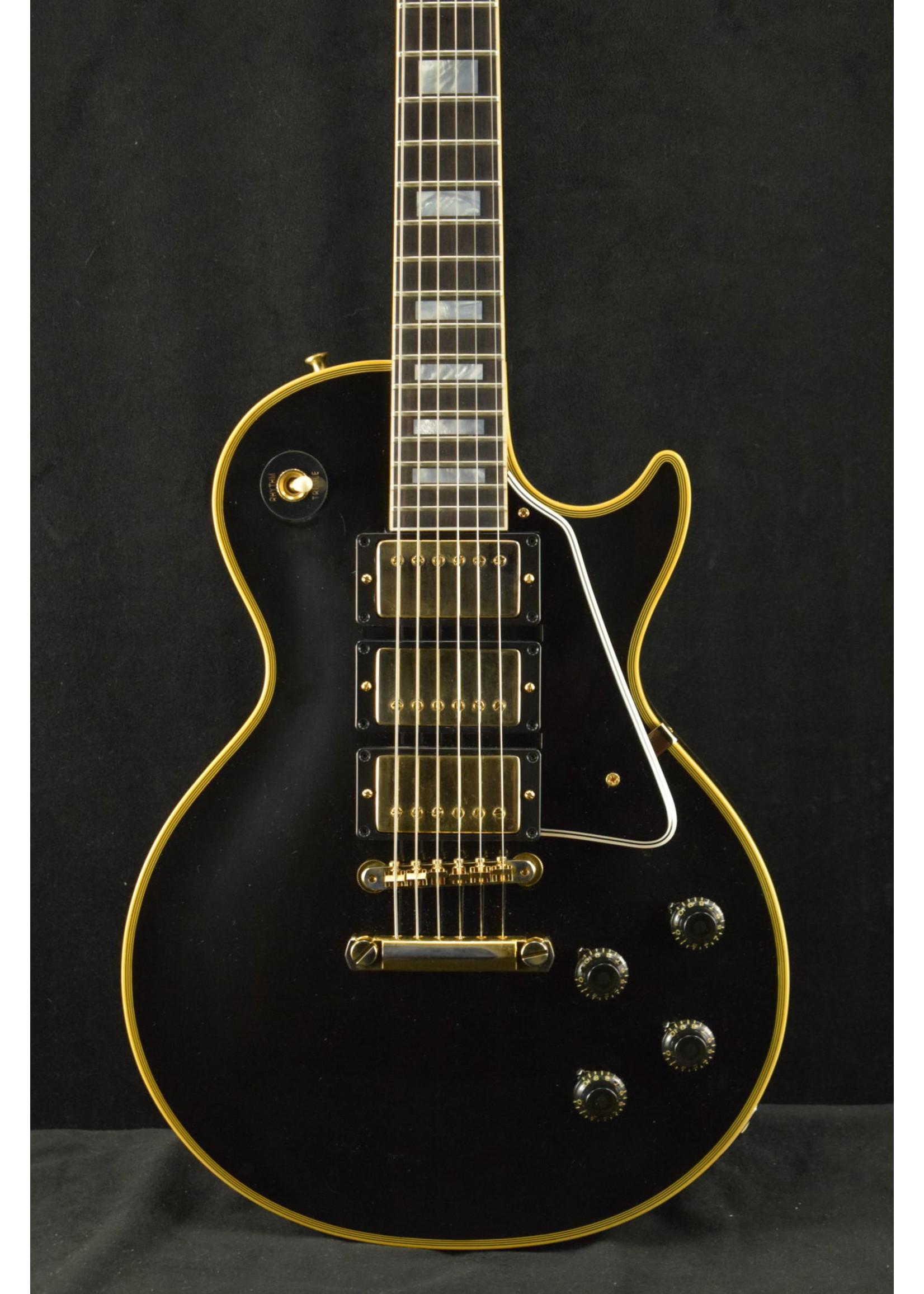 "Gibson Gibson '57 ""Black Beauty"" Les Paul Custom VOS Ebony 3-Pickup"