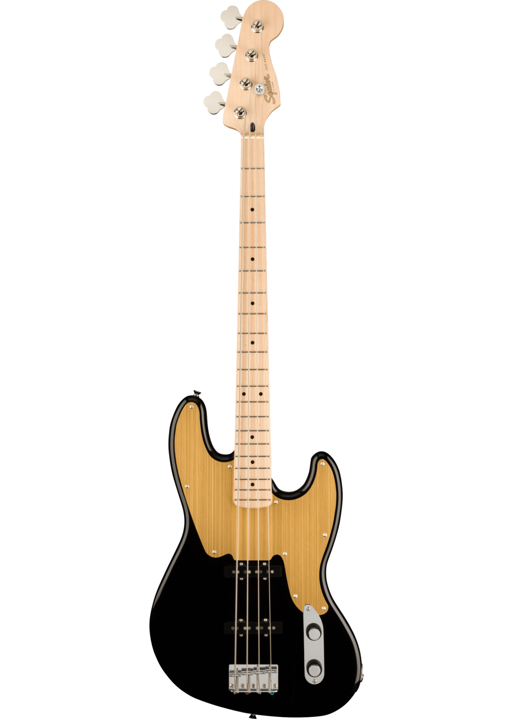 Squier Squier Paranormal Jazz Bass® '54 Black with Gold Anodized Pickguard