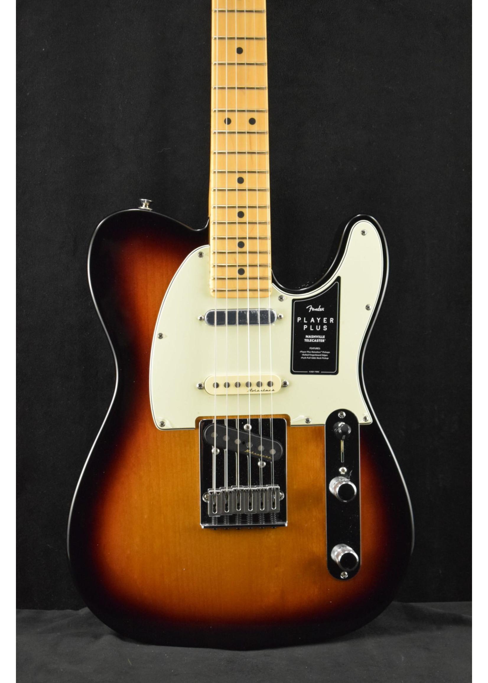 Fender Fender Player Plus Nashville Telecaster Maple Fingerboard 3-Color Sunburst