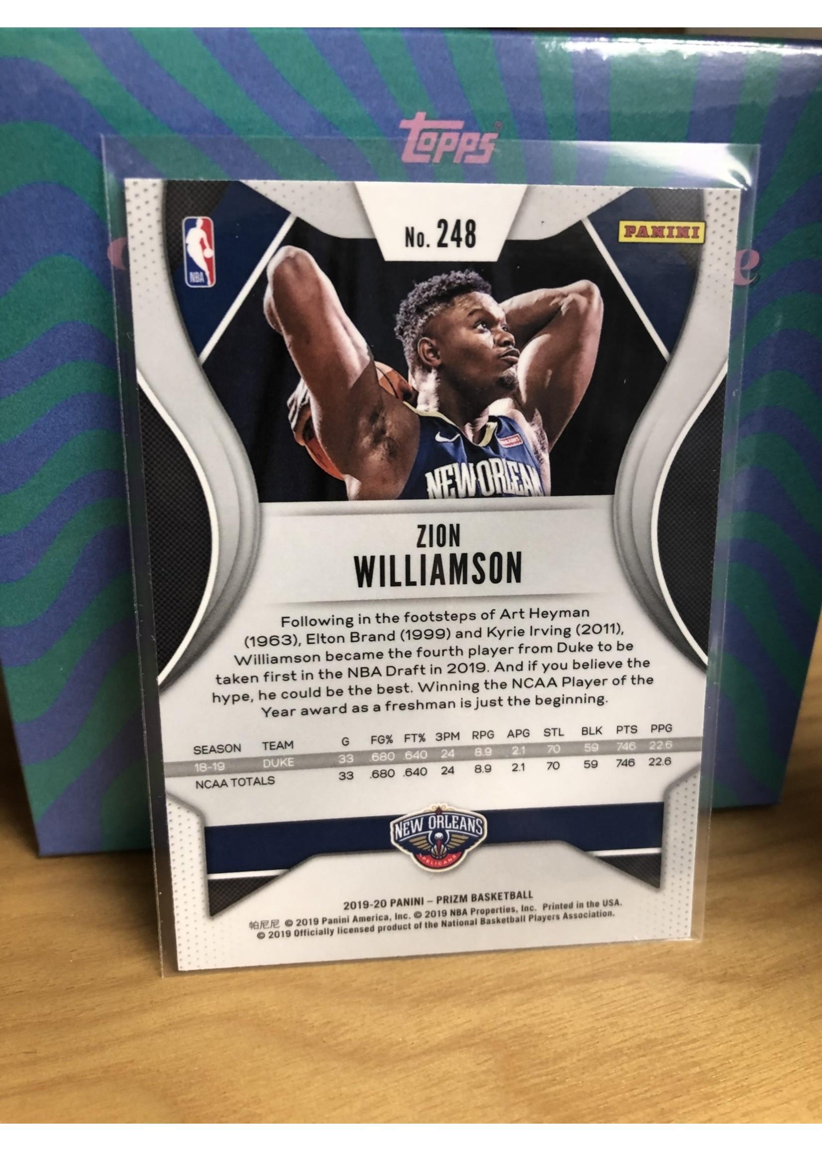 Prizm 2019-20 Panini Prizm Zion Williamson  #248  Base Rookie Card