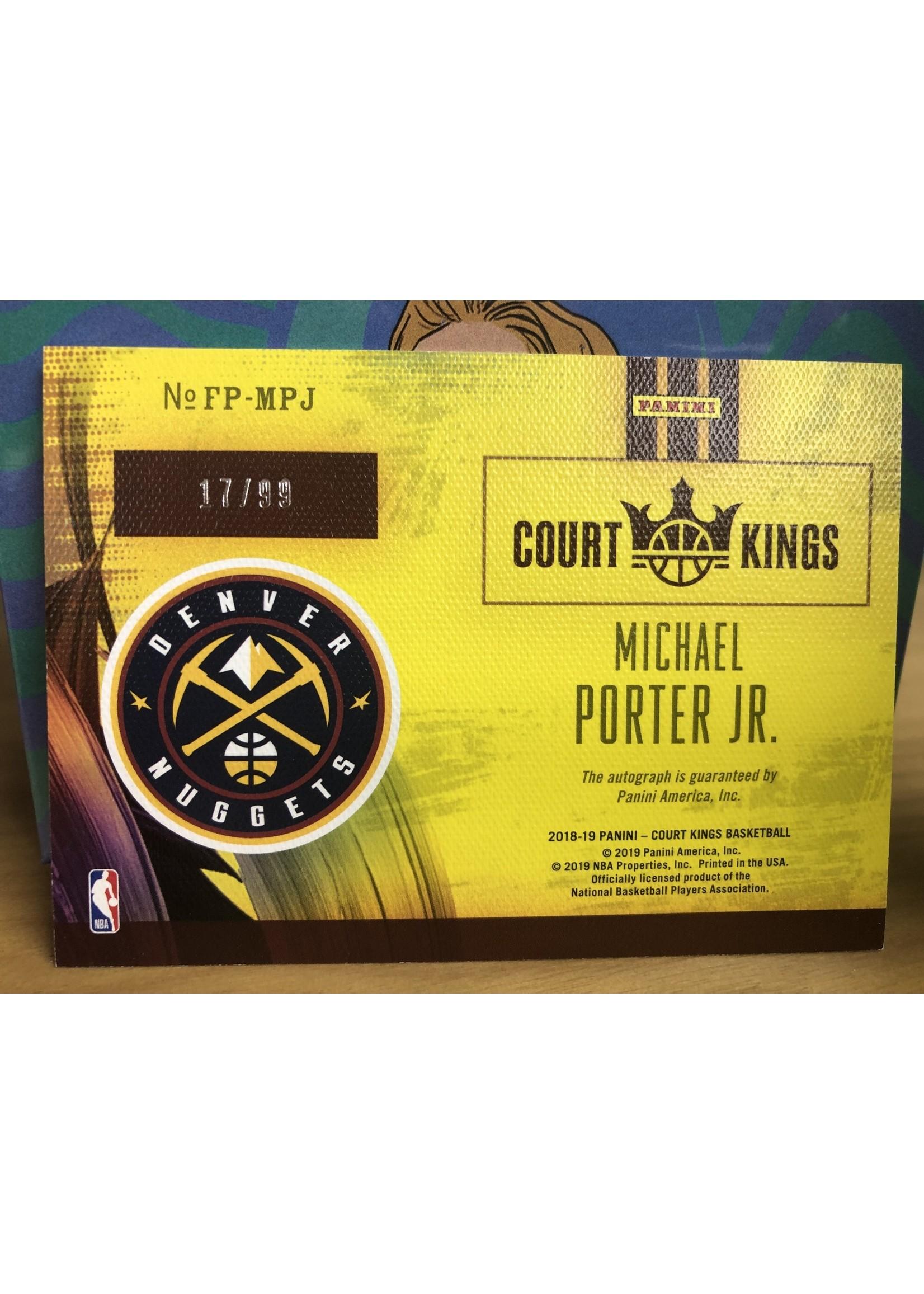 Panini 2018-19 Panini Court Kings Michael Porter Jr Red Ruby /99