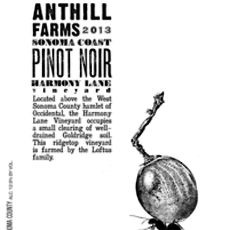 "Anthill Farms Winery ""Harmony Lane"" Pinot Noir 2019"