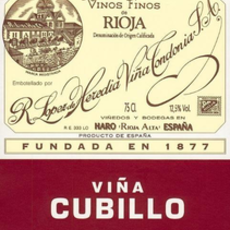 "Bodegas R. Lopez de Heredia Vina Tondonia ""Vina Cubillo"" Rioja Crianza 2012"
