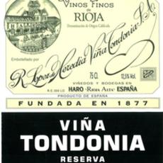 "Bodegas R. Lopez de Heredia Vina Tondonia ""Vina Tondonia"" Rioja Reserva Tinto 2006 375mL"