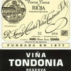 "Bodegas R. Lopez de Heredia Vina Tondonia ""Vina Tondonia"" Rioja Reserva Tinto 2008"