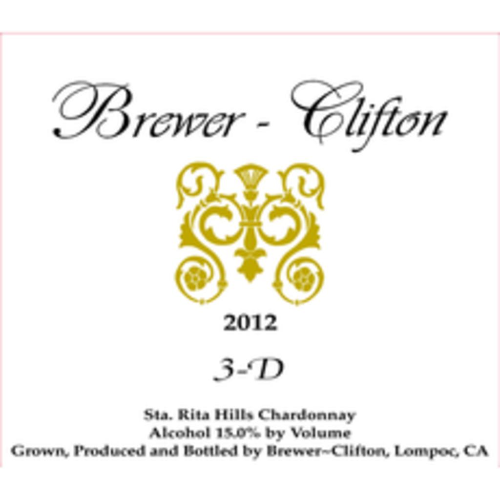 """Brewer Clifton """"3D"""" Chardonnay 2018"""