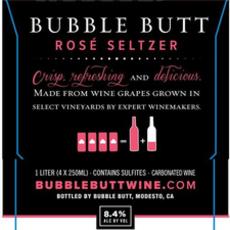 Bubble Butt Rose Seltzer 4pack