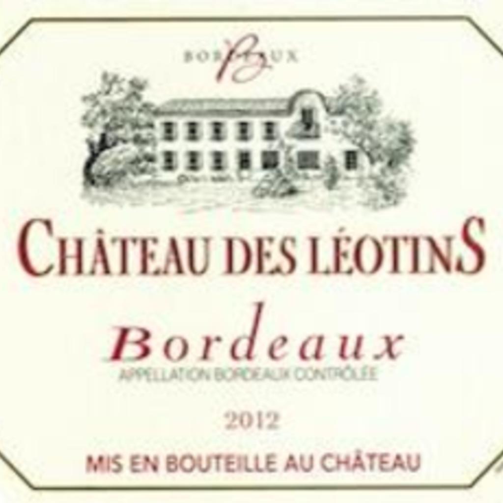 Chateau des Leotins Bordeaux 2018