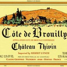 Chateau Thivin Cote de Brouilly 2019