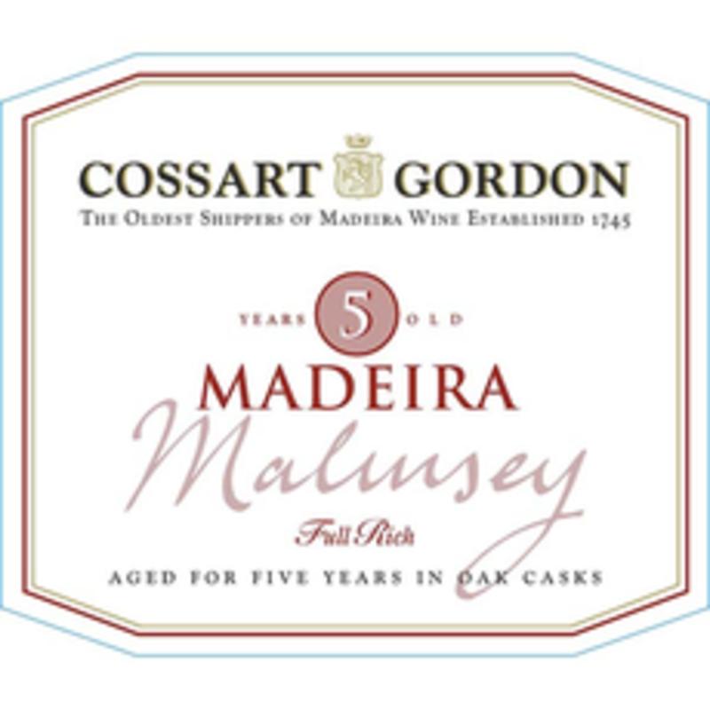 Cossart Gordon 5yr Malmsey Madeira 750mL