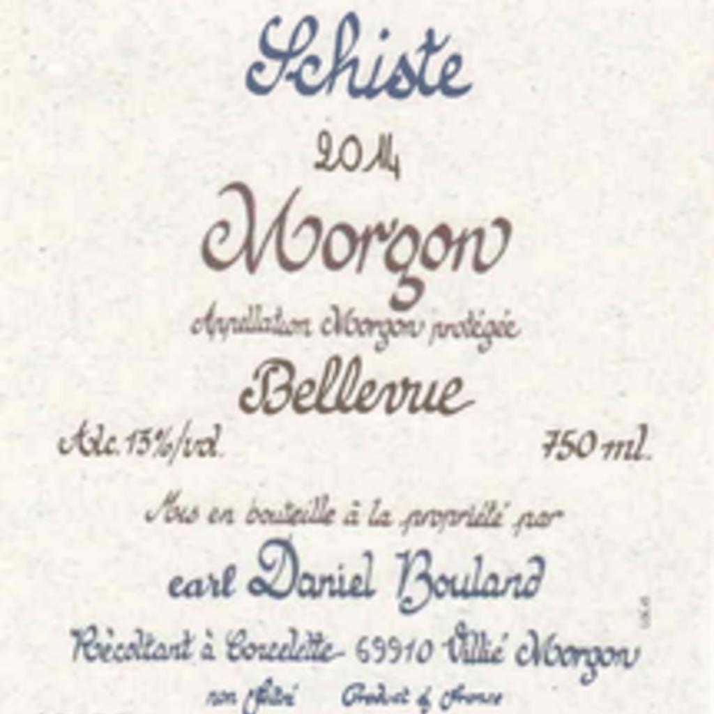 "Daniel Bouland Morgon ""Bellevue Cailloux"" 2019"