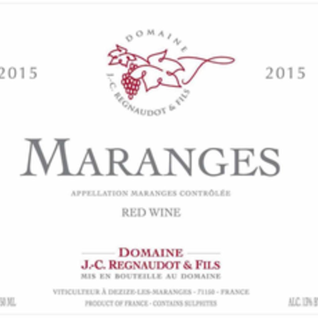 Domaine Jean-Claude Regnaudot Maranges 2017