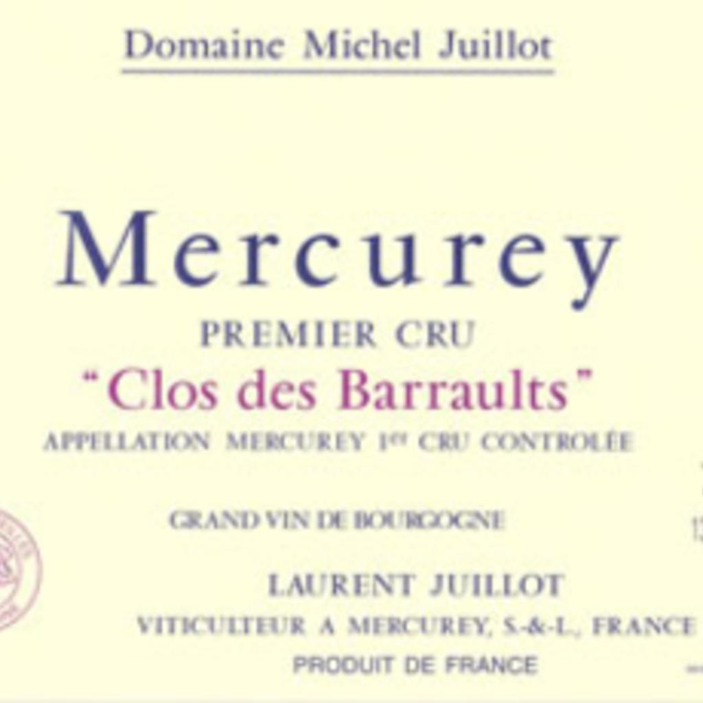 Domaine Michel Juillot Mercurey 1er Cru Clos des Barraults Rouge 2016