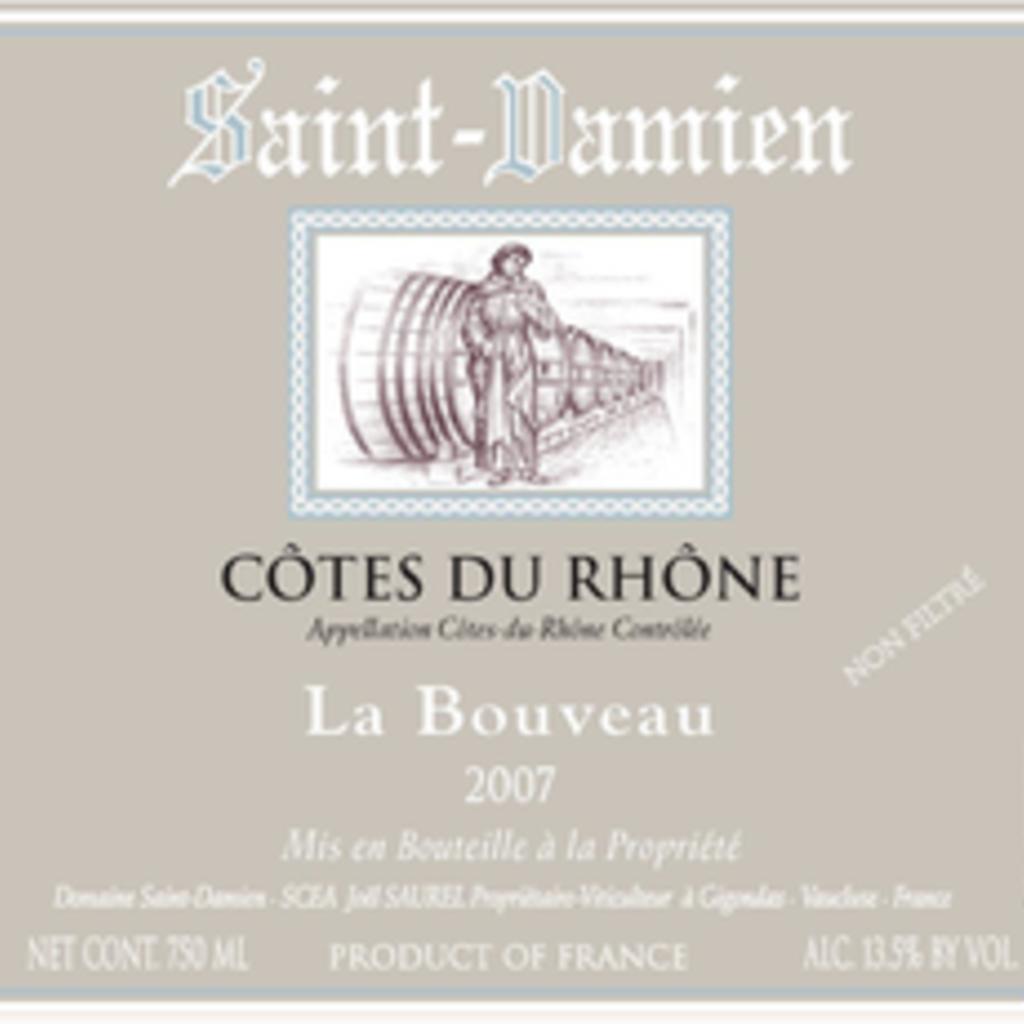 """Domaine Saint-Damien """"La Bouveau"""" Cotes du Rhone 2018"""