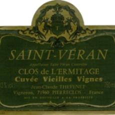 """Domaine Thevenet et fils Saint Veran """"Clos de L'Ermitage"""" 2018"""