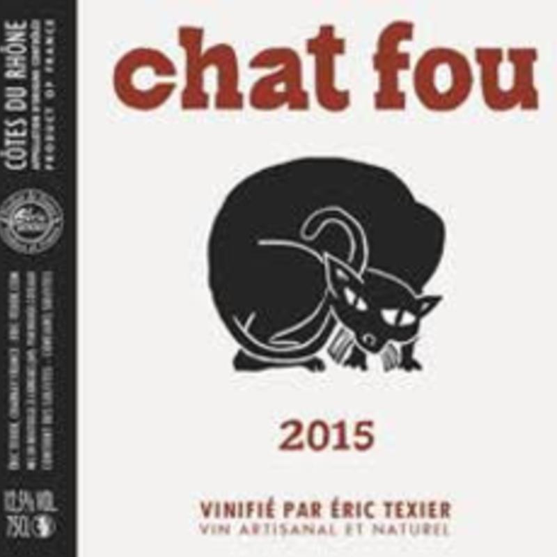"""Eric Texier """"Chat Fou"""" Cotes du Rhone Rouge 2019"""