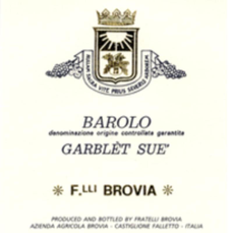 Fratelli Brovia Garblet Sue Barolo 2016