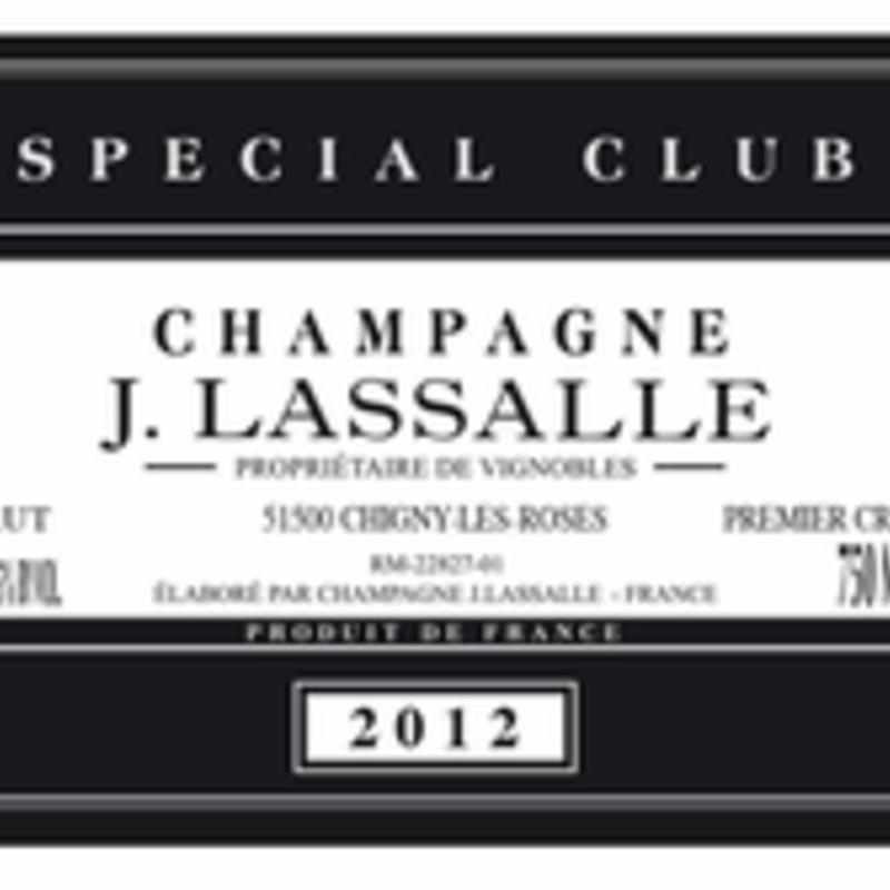 J. Lassalle Champagne 1er Cru Brut Special Club 2012