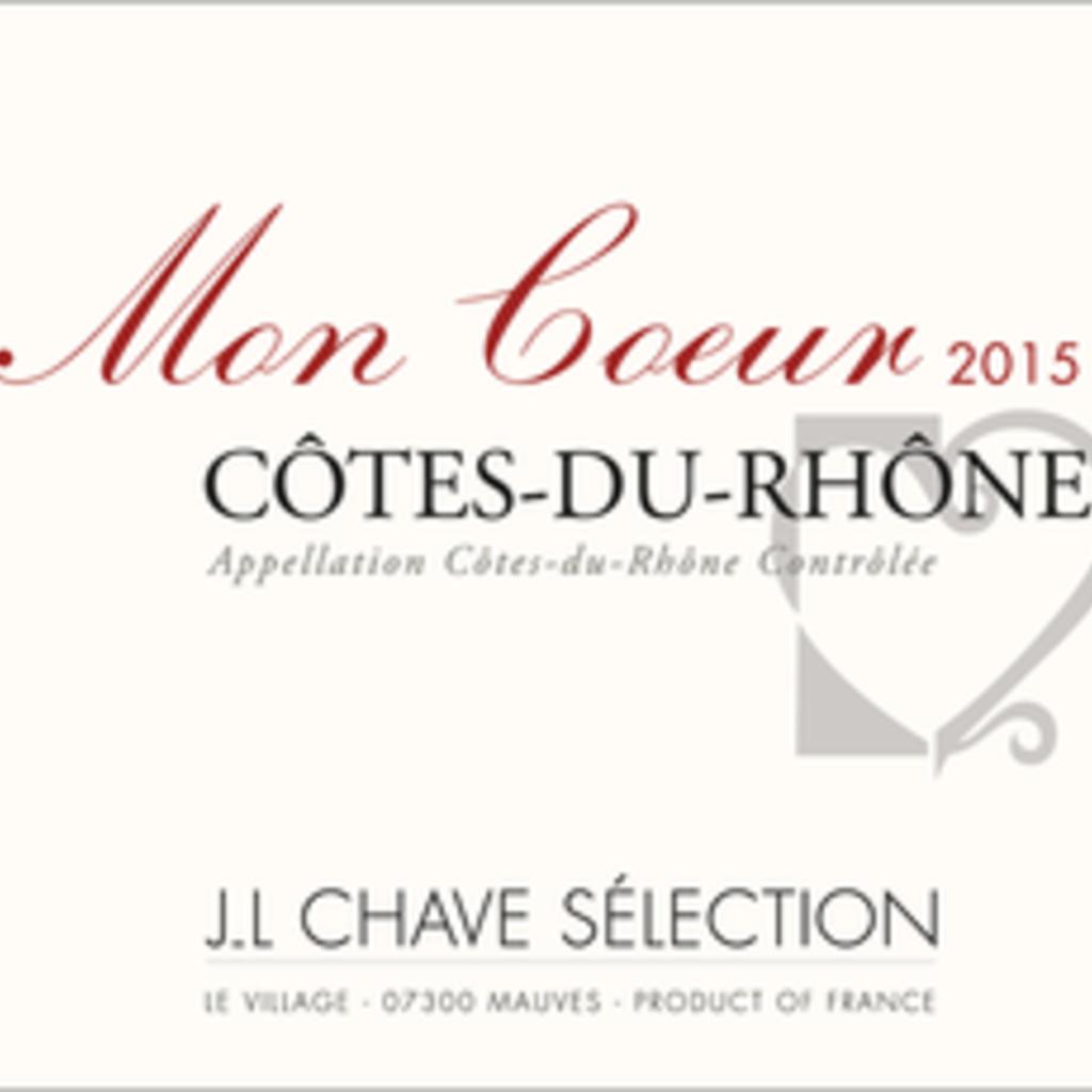 """J.L. Chave Selection """"Mon Coeur"""" Cotes du Rhone 2018 750mL"""