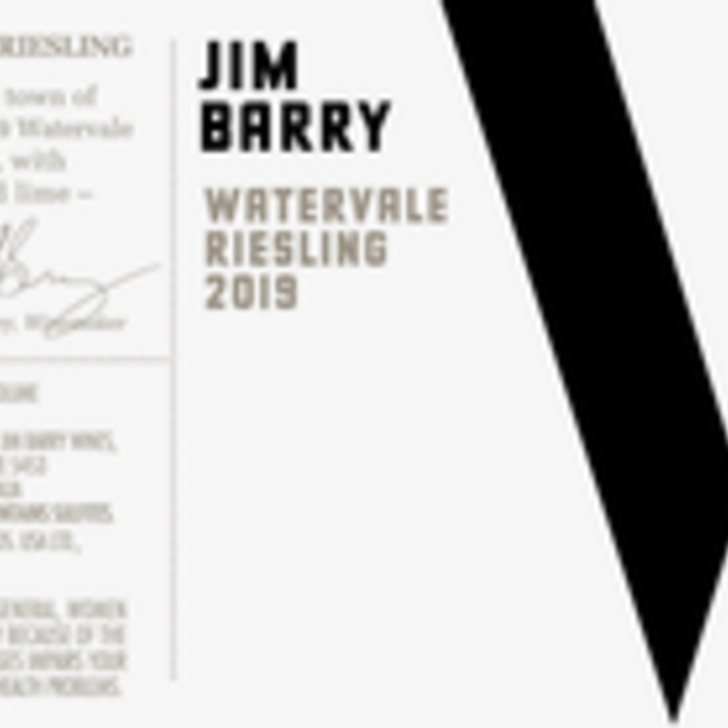 Jim Barry Watervale Riesling Clare Valley 2019