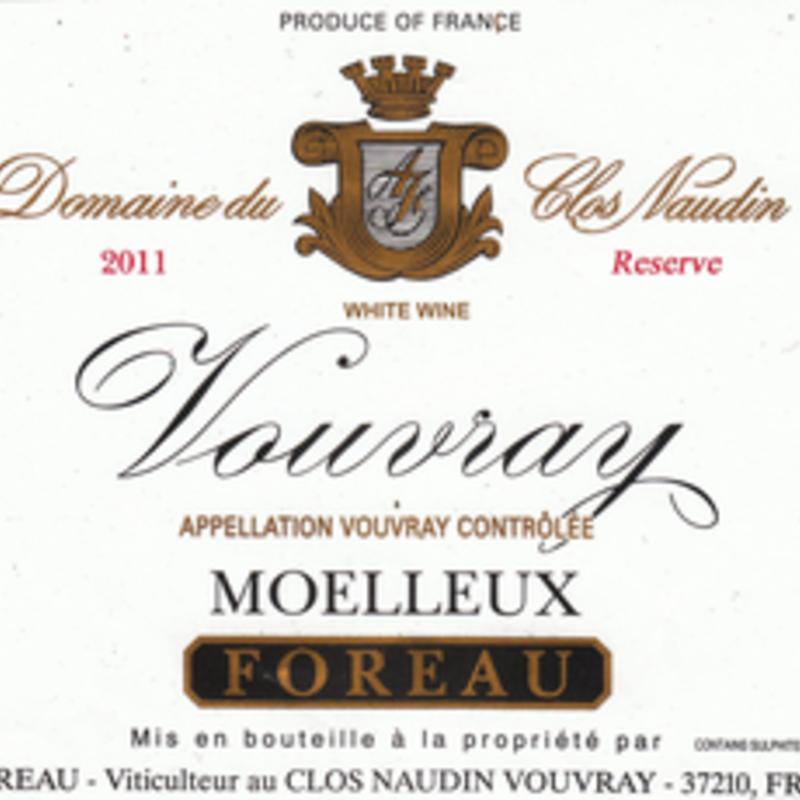 Philipe Foreau Domaine Du Clos Naudin Moelleux Vouvray Rerserve 2015