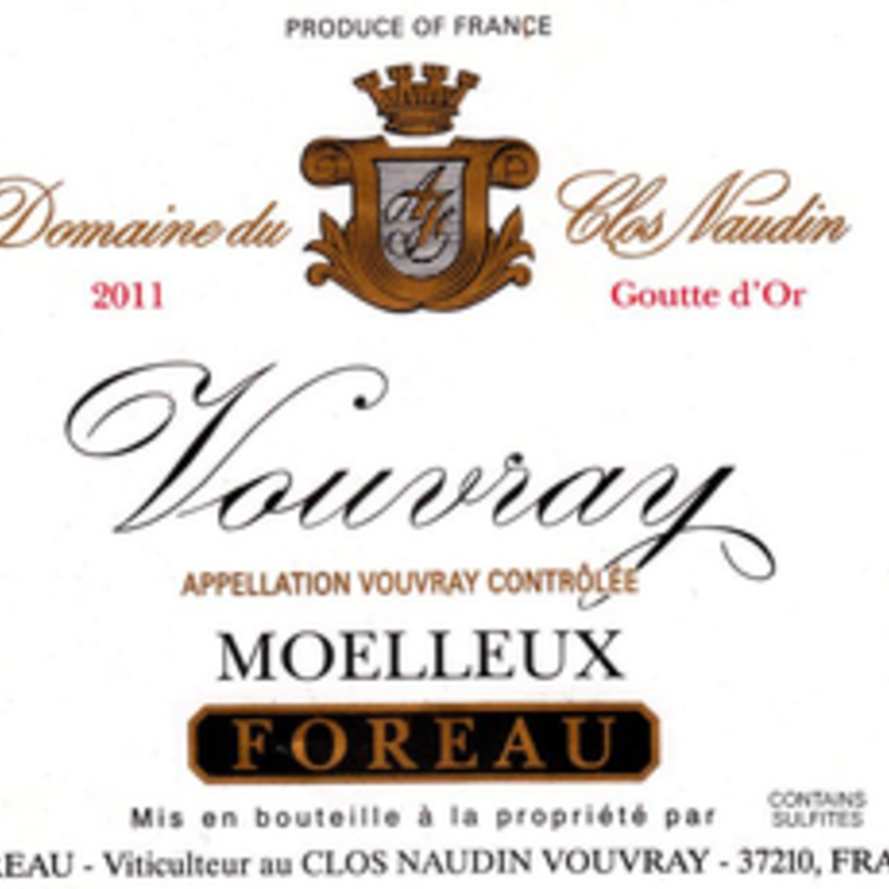 Philippe Foreau Domaine du Clos Naudin Moelleux Goutte d'Or Vouvray 2015