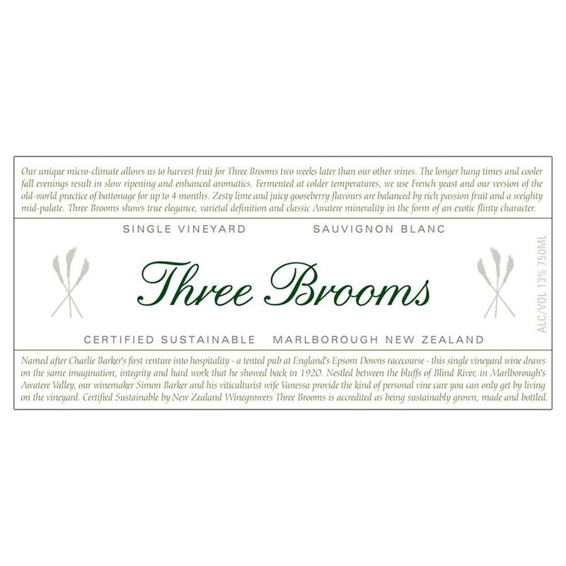 Three Brooms Sauvignon Blanc 2020