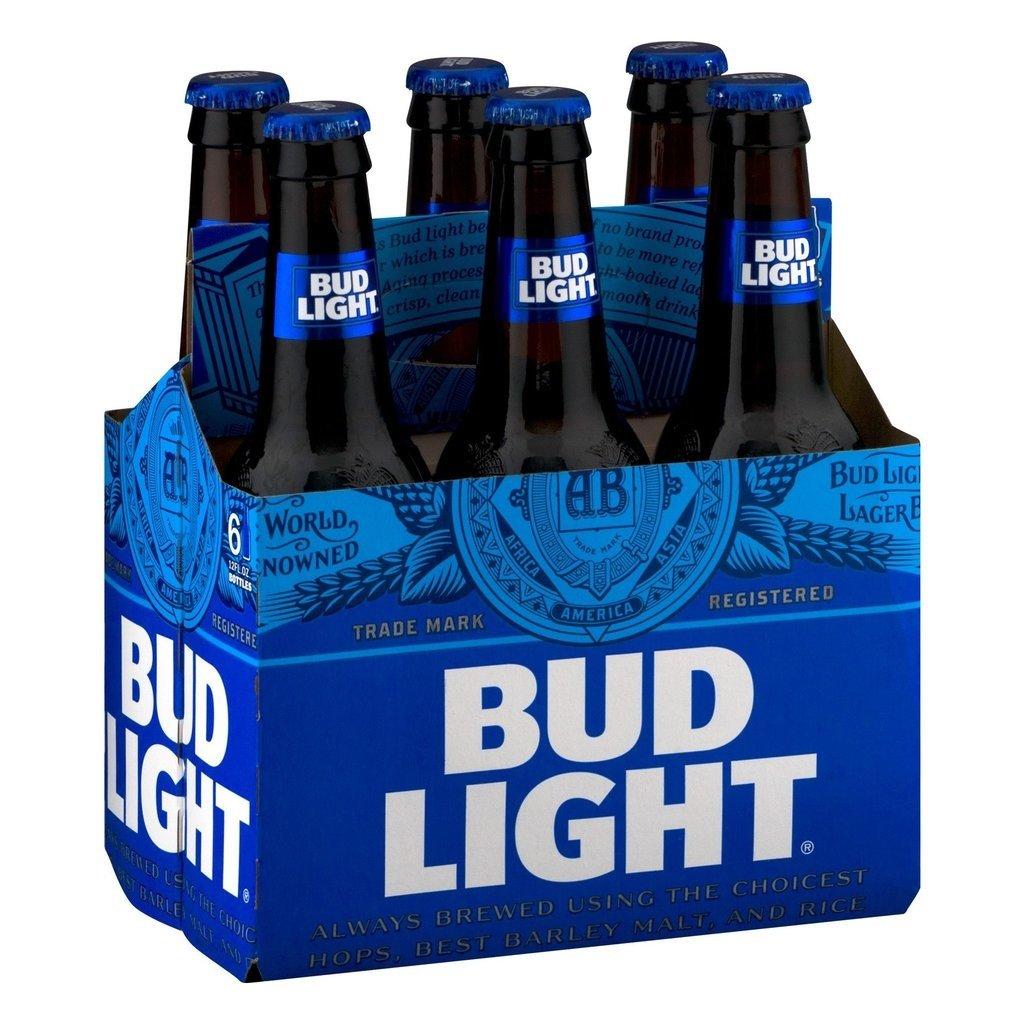 Bud Light 6pack Bottles