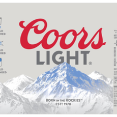 Coors Light 12pack Cans