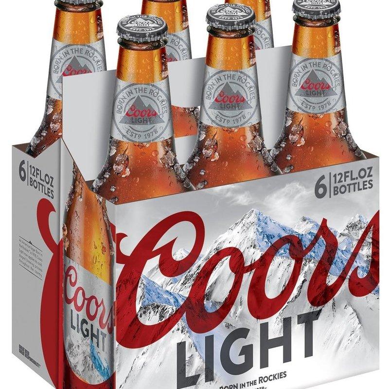 Coors Lite 6pack Bottles
