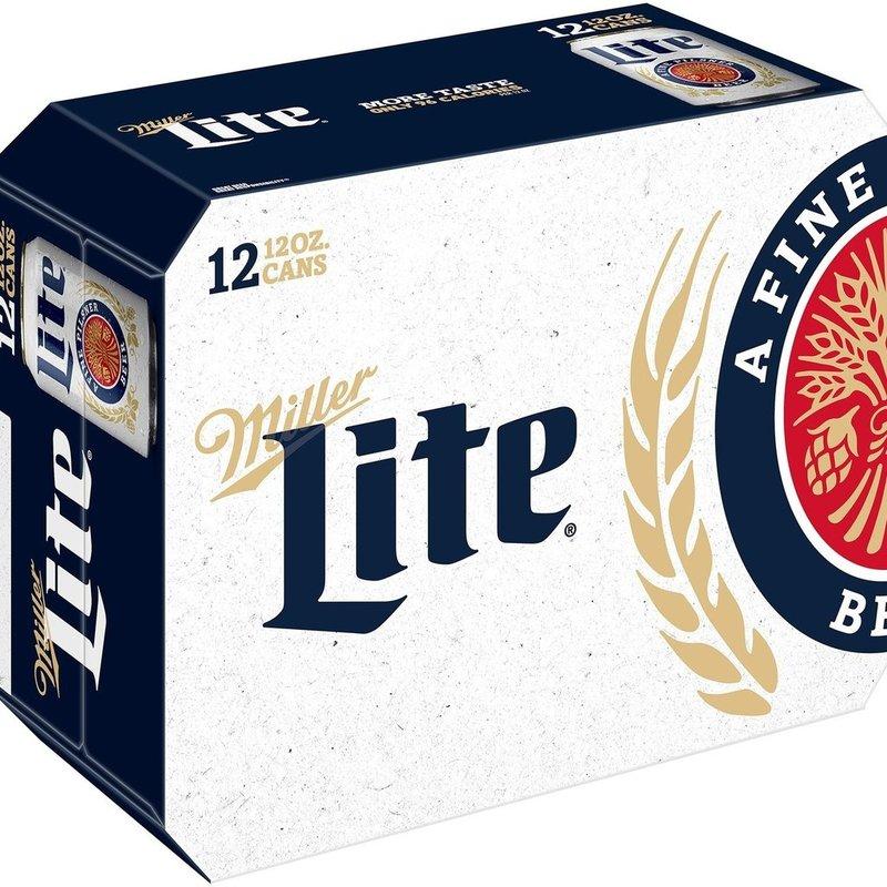 Miller Light 12pack Cans