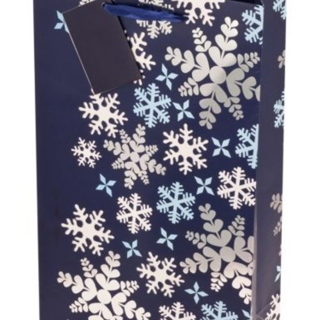 Blue Snowflake Double Gift Bag
