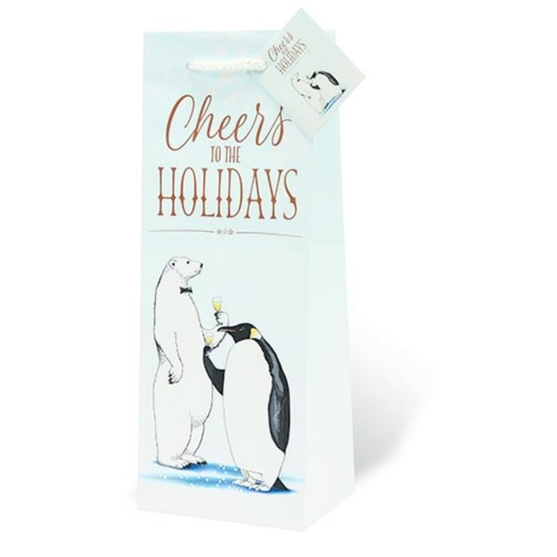 Cheers to the Holidays Single Gift Bag