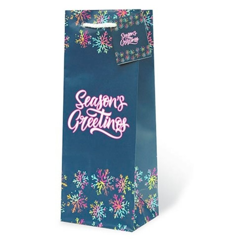 Season's Greetings Single Gift Bag