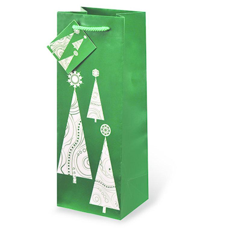 Contemprary Christmas Tree Single Gift Bag
