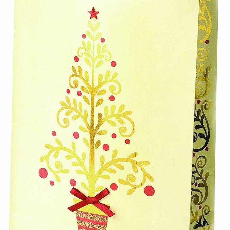 Golden Tree Gift Bag Double