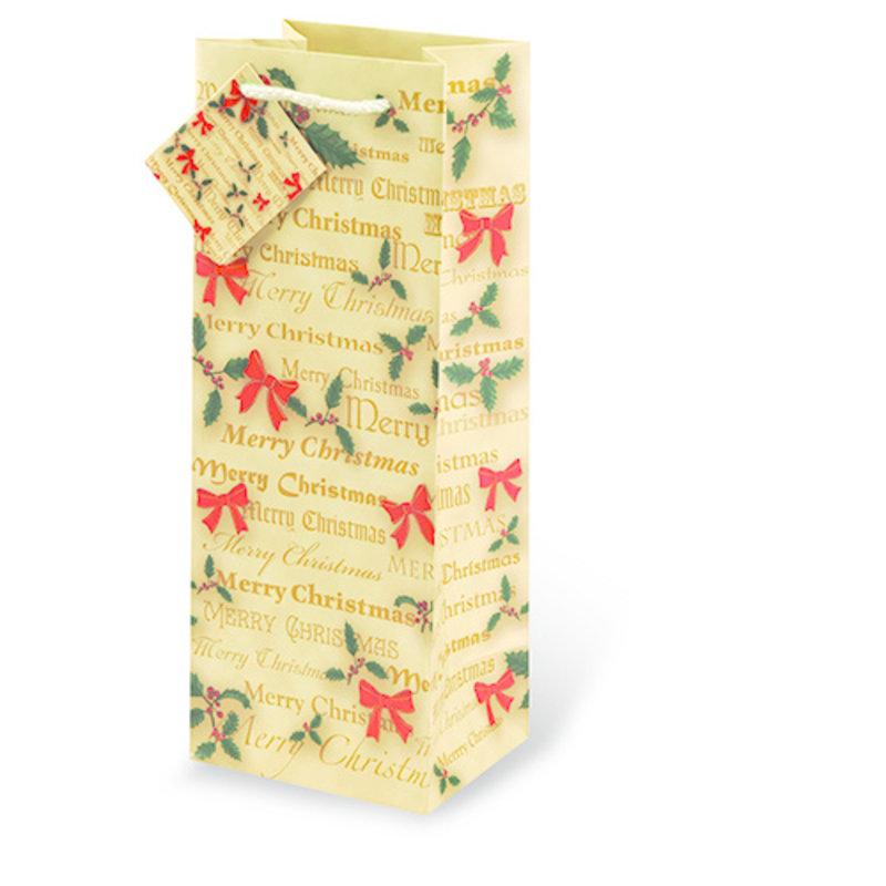 Christmas Bows Gift Bag Single