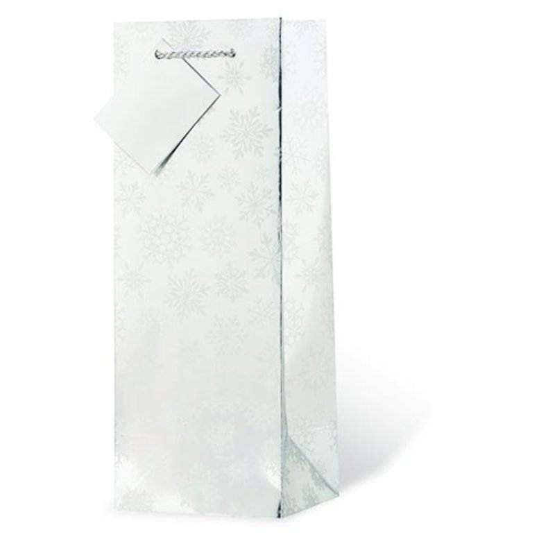 Frosted Snowflakes Gift Bag Single