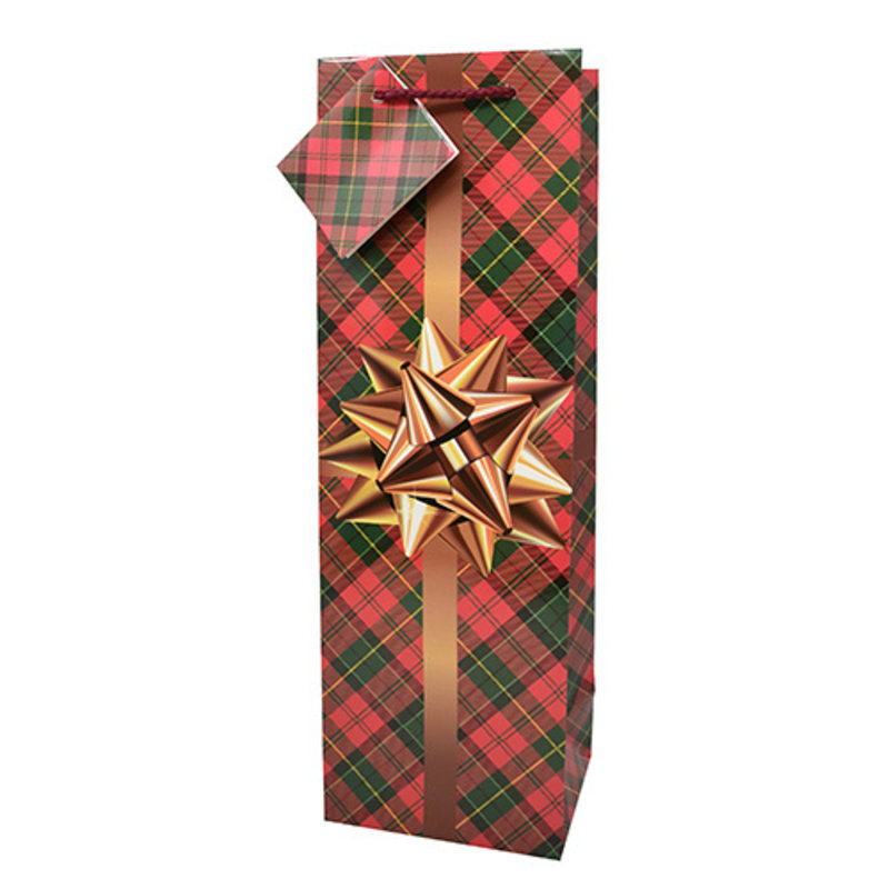 Gold Bow Gift Bag Single