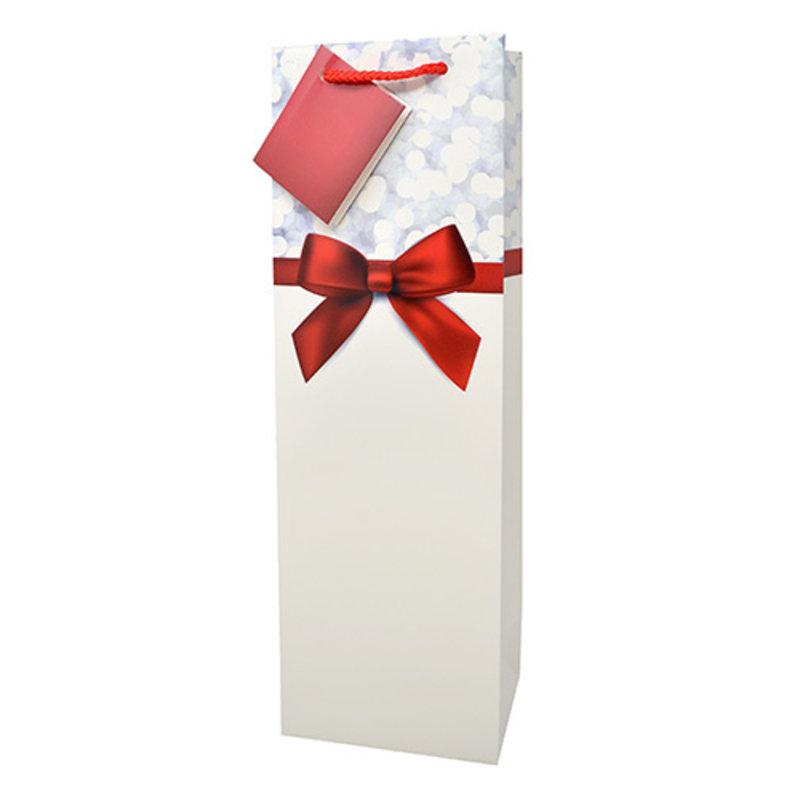 Red Ribbon Gift Bag Single