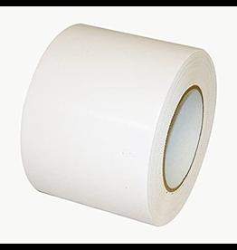 "CleanHub Poly Tape, White 4""x60 Yd Pinked Edge, Each"