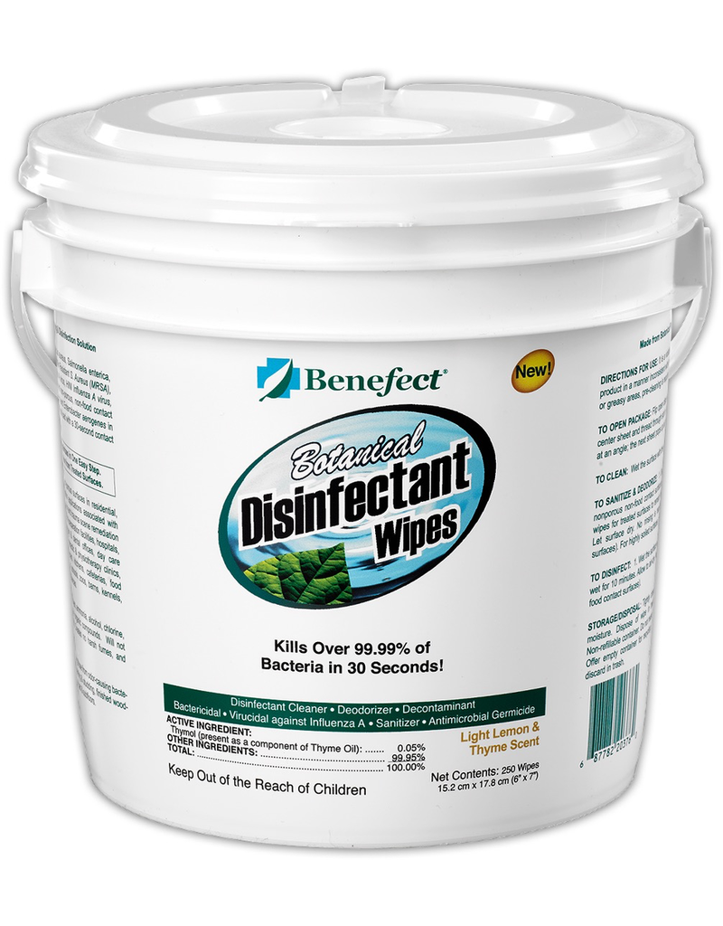 Benefect Benefect® Botanical Disinfectant Wipes, Pail