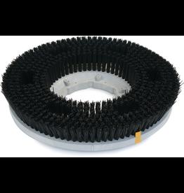 "CleanHub Nylon Carpet Cleaning Brush 17"" - Medium Black (.22)"